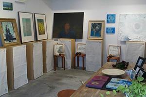 日本画展示